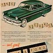 Vintage 1954 Ford Classic Car Advert Art Print