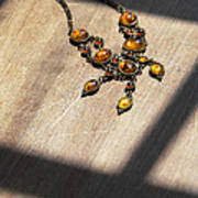 Vintage Amber Necklace Art Print