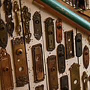 Vintage And Antique Door Knob And Lock Plates Art Print