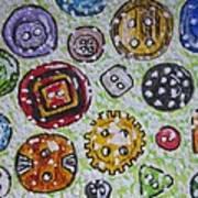 Vintage Antique Buttons Art Print