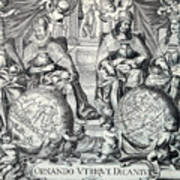 Vintage Antique Map Ornando Vtriqve Dicantvr Art Print