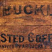 Vintage Arbuckles Roasted Coffee Sign Art Print