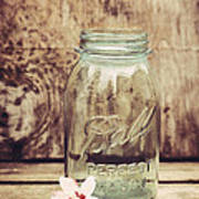 Vintage Ball Mason Jar Art Print