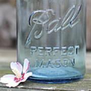 Vintage Ball Perfect Mason Blue Art Print