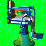 Vintage Barber Chair - 20130119 - V2 Art Print