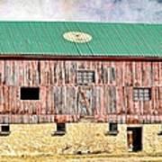 Vintage Barn - Wood And Stone Art Print