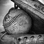 Vintage Baseball And Glove Art Print