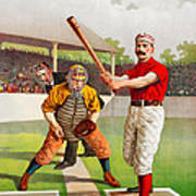 Vintage Baseball Print Art Print
