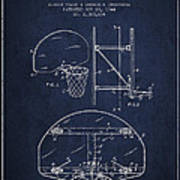 Vintage Basketball Goal Patent From 1944 Art Print