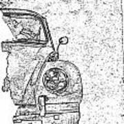 Vintage Beetle Art Print