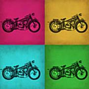 Vintage Bike Pop Art 1 Art Print