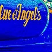 Vintage Blue Angel Art Print