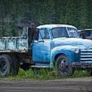 Vintage Blue Chevrolet Pickup Truck Art Print