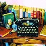 Vintage Books And Typewriter Art Print