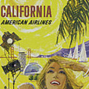 Vintage California Travel Poster Art Print