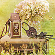 Vintage Camera And Case Art Print