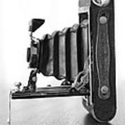 Vintage Camera - Black And White Art Print