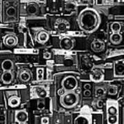 Vintage Camera Montage Art Print