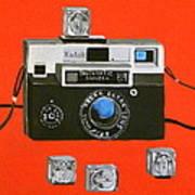 Vintage Camera With Flash Cube Art Print
