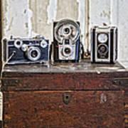 Vintage Cameras At Warehouse 54 Art Print by Toni Hopper