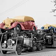 Vintage Car Carrier Art Print