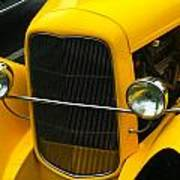 Vintage Car Yellow Detail Art Print