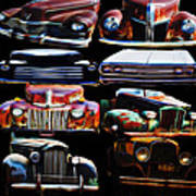 Vintage Cars Collage 2 Art Print