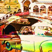 Vintage Cars Collage Art Print