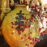 Vintage Ceramic Urn Print by Linda Phelps