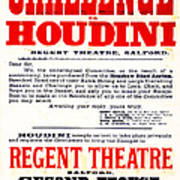 Vintage Challenge Houdini Poster Art Print by Wingsdomain Art and Photography