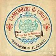 Vintage Cheese Label 4 Art Print