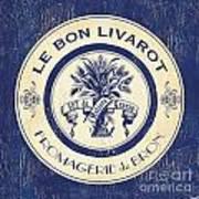 Vintage Cheese Label 6 Art Print by Debbie DeWitt
