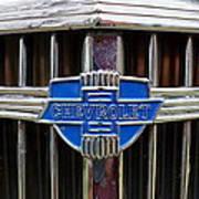 Vintage Chevrolet Grille Emblem Art Print