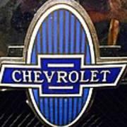 Vintage Chevrolet Logo Art Print