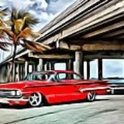 Vintage Chevy Impala Art Print