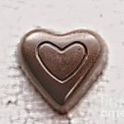 Vintage Chocolate Heart Art Print