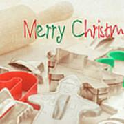 Vintage Christmas Cookie Cutters  Art Print