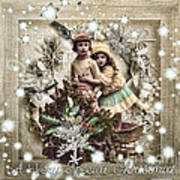 Vintage Christmas Print by Mo T