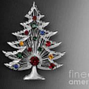 Vintage Christmas Tree Art Print