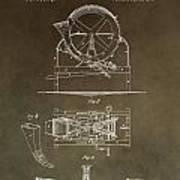 Vintage Cider Mill Patent Art Print