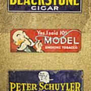 Vintage Cigar And Tobacco Signs Dsc07152 Art Print