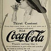Vintage Coca Cola Ad 1911 Art Print