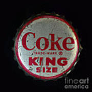 Vintage Coca Cola Bottle Cap Art Print