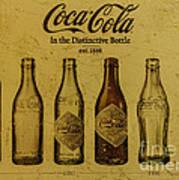 Vintage Coca Cola Bottles Art Print