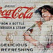 Vintage Coke Sign Art Print