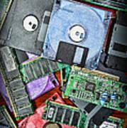 Vintage Computer Parts Art Print by Paul Ward