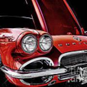 Vintage Corvette  Art Print