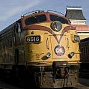 Vintage Diesel Locomotive Art Print