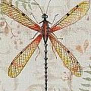 Vintage Dragonfly-jp2563 Art Print