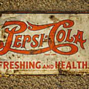 Vintage Drink Pepsi Cola 5 Cents Dsc07157 Art Print